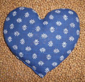2123 Herz floral blau