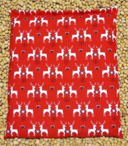 KirschensteinKissen rot mit Hirsch
