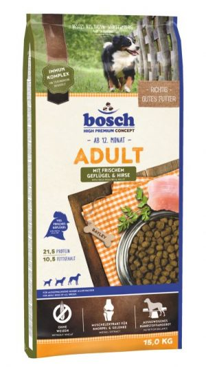 Abbildung: Sack Hundefutter Bosch Adult Geflügel & Hirse
