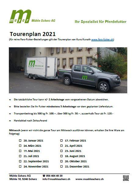 Abbildung: Tourenplan 2021